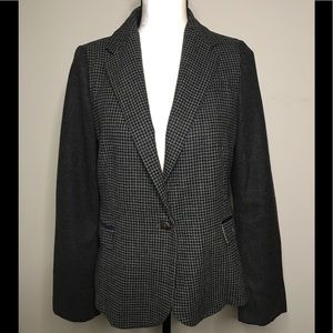 Love Tree Tweed Blazer With Elbow Patches Size L